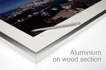 aluminium on wood section
