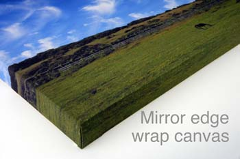 mirror edge wrap canvas