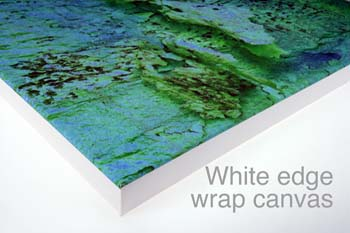white edge wrap canvas